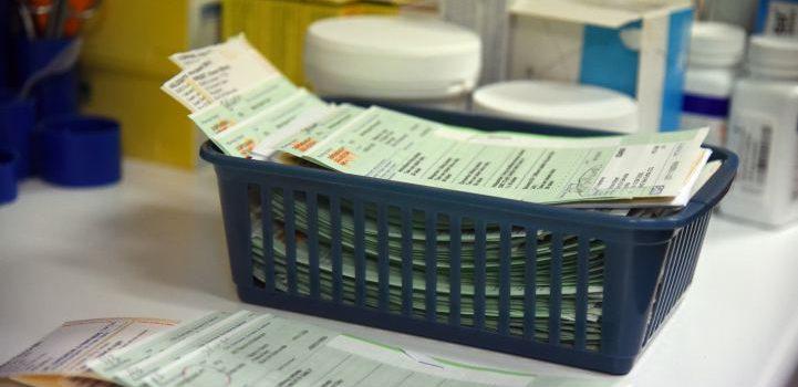 Prescriptions at a GP surgery