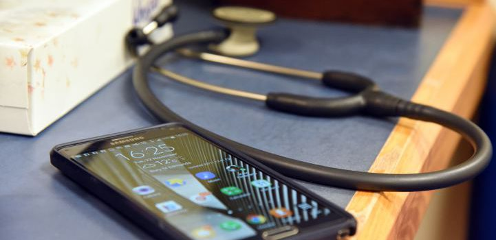 Mobile with stethoscope